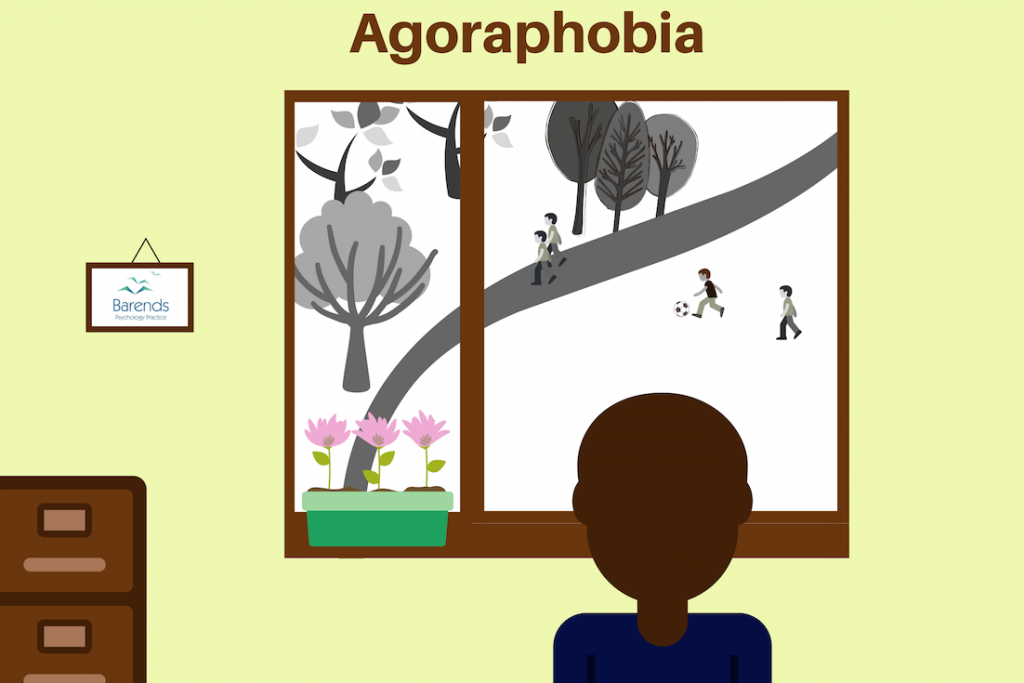Agoraphobia. Being locked inside. Agoraphobia symptoms